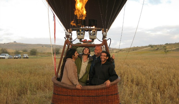 Depending on size, a hot-air balloon can hold four to 18 passengers. Photo courtesy of SkyTrek
