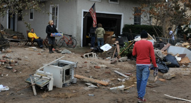 Clearing up after Hurricane Sandy. Photo by Anton Oparin/Shutterstock.com