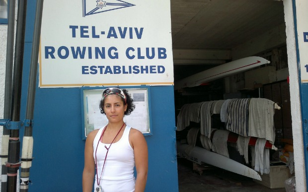 The Tel-Aviv Rowing Club is Jasmine Feingold's home away from home. Photo by Abigail Klein Leichman