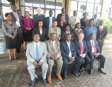 GIMI instructors with Kenyan bank employees.