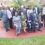 Kenyans with Galilee International Management Institute Dean Dr. Nathan Tirosh.