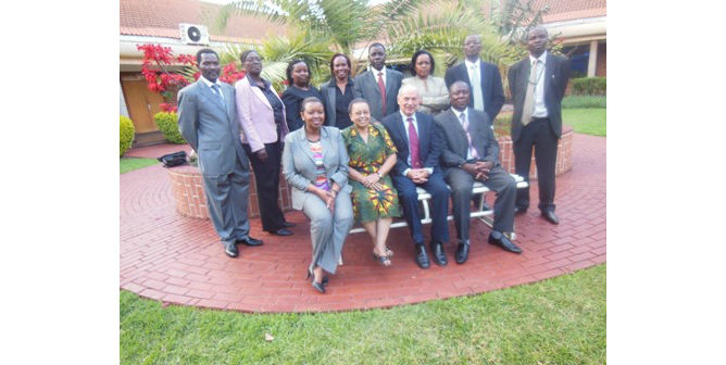 Kenyans with Galilee International Management Institute Dean Dr. Nathan Tirosh.