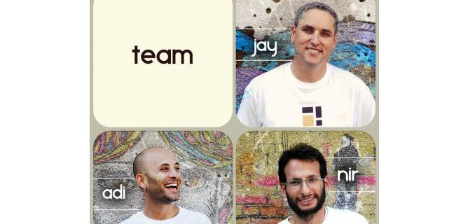 The Pixplit team: Jay Meydad, Adi Binder and Nir Holtzman Ninio.