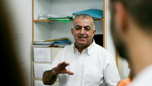 Said Abu Shakra, founder and curator of the Umm El-Fahem Art Gallery. Photo by Alyssa Kapnik