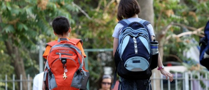 Children go back to school. Photo by Flash90.
