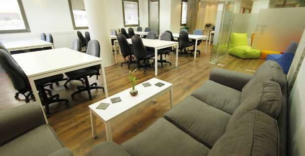 An inviting space for Tel Aviv startups.
