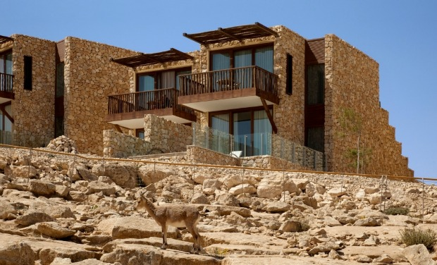 The new luxury Beresheet Hotel at Mitzpeh Ramon. Photo by Assaf Pinchuk