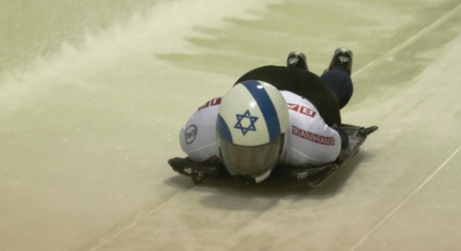 Brad Chalupski slid his way to a 29th place finish at the track at the 2012 World Championships in Lake Placid.