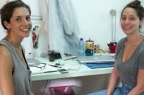 Nitsan Debbi, left, and Liora Rosin share a Tel Aviv studio.