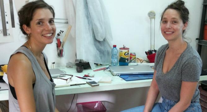 Nitsan Debbi, left, and Liora Rosin share a Tel Aviv studio.
