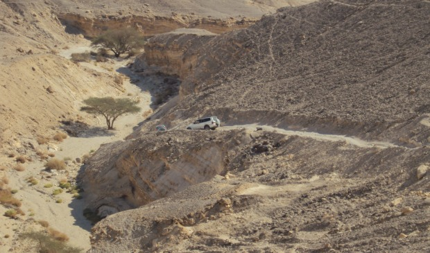 Jeep trips through the Negev are a great way to see the sights. Photo by Michel Arad.