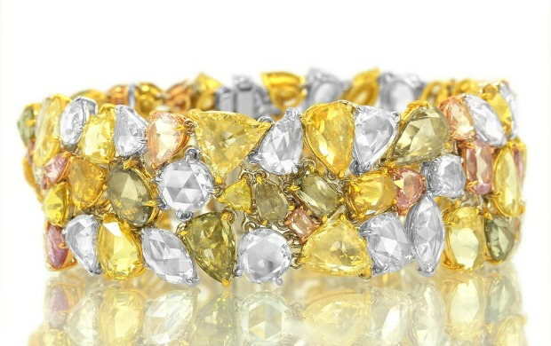 The $162,000 54-carat multicolored diamond bracelet.