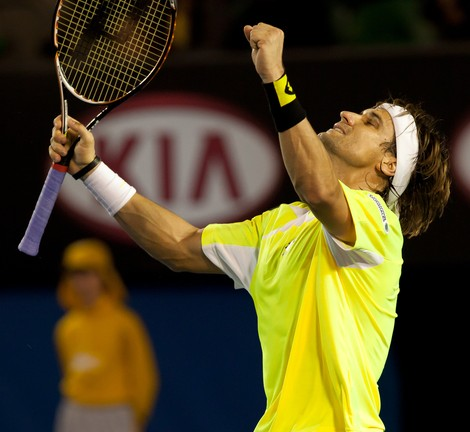 David Ferrer of Spain celebrates a win. (Shutterstock.com)