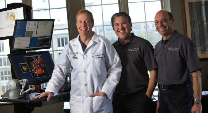 From left, Dr. Warren Selman, Moty Avisar and Alon Geri. Photo by Keith Berr Photography