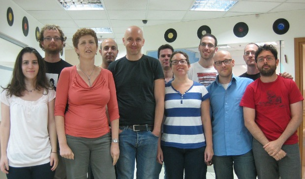 The folks who bring you Tonara. Founder Yair Lavi is in the middle with black T-shirt.