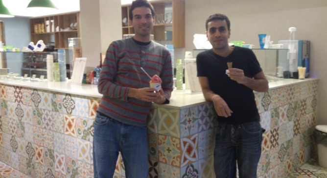 Bouza owners Adam Ziv and Alaa Sawitat.