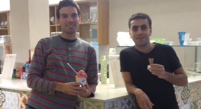 Bouza owners Adam Ziv and Alaa Sawitat.