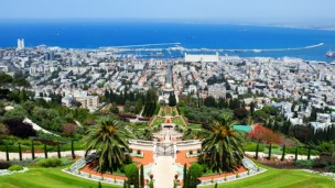 Looking down towards Haifa bay. Photo via Shutterstock.