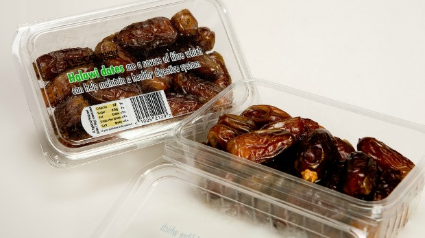 Halawi dates are soft, medium-sized and light in color. Photo courtesy of Hadiklaim Israeli Date Growers Cooperative