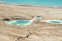 The Dead Sea's shore has been receding over the years and causing sink holes along its shore. (Shutterstock.com)
