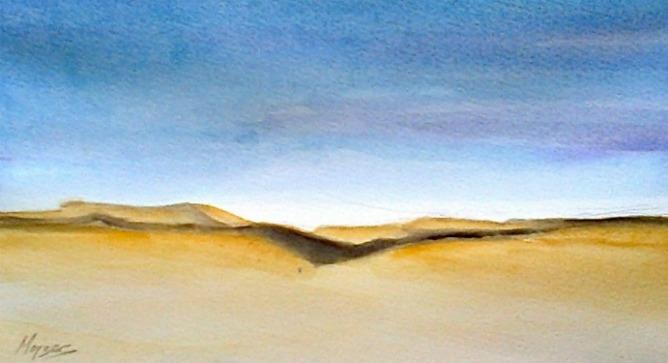 """Igor Mojzes' watercolor """"Negev."""""""