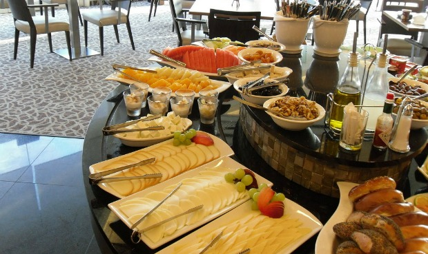 A plentiful breakfast buffet is always included in the price of an Israeli hotel room.