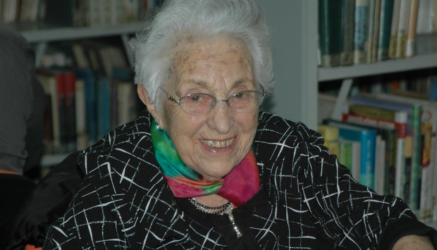 Co-founder Sara Schacter is still playing at 97. Photo by June Glazer