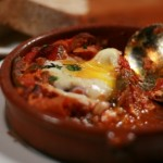 Shakshouka, an Israeli breakfast staple, actually is a relatively new item on the menu. Photo courtesy of Wikimedia Commons