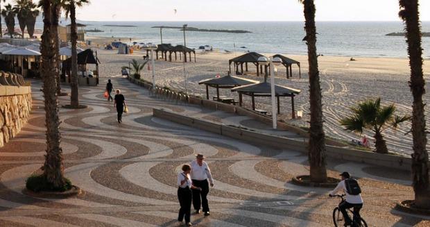 The Tel Aviv Promenade.
