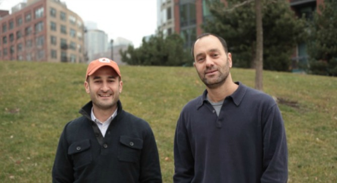 Childhood pals Jon Polin, left, and Richard Demb immigrated to Israel and put their marketing background to good use.