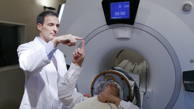 Patients undergoing InSightec's non-invasive MRI-guided ultrasound procedure for tremor symptoms.