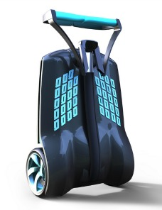 MUV-e doesn't need a gyroscope like a Segway.