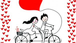 Cycling for love (Shutterstock.com)