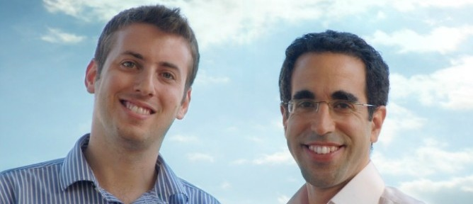Skycure founders Yair Amit, left, and Adi Sharabani.