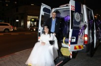 Yad Sarah provides free medical transportation -- in this case, for a wheelchair-bound bride.