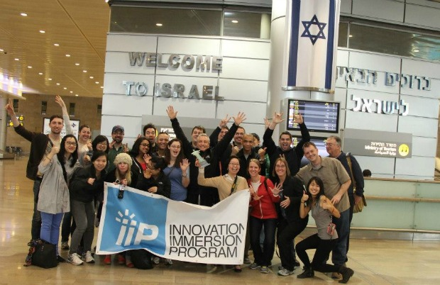 The University of Illinois group arriving in Israel.