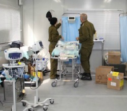IDF field hospital in Japan.