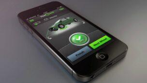 The TireCheck app estimates pressure remotely.