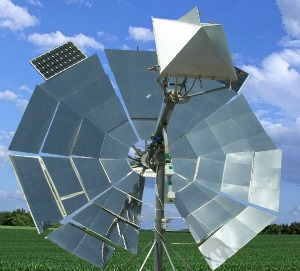 Sunlight is concentrated on the SunDwater dish so it doesn't need a large footprint.