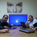 Umoove founders, from front left, Yitzi Kempinski, Moti Krispil, Tuvia Elbaum and Nir Blushtein.