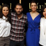 Katie Lowes (Scandal), Guillermo Diaz (Scandal), Bellamy Young (Scandal) and Lana Parilla (Once Upon A Time) were in Jerusalem with America's Voices in Israel. (Chaim Zach)