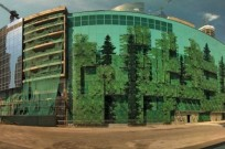 AFIMALL in Moscow features a photorealistic design of a typical Russian forest, digitally printed in-glass on 2,650 panes.