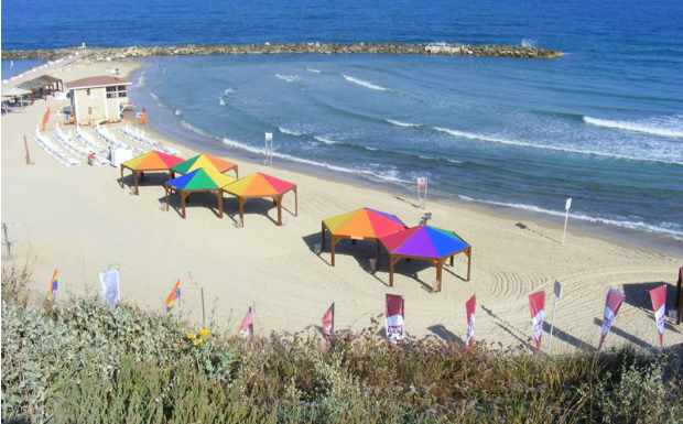 Tel Aviv goes all the color of the rainbow to celebrate Gay Pride month. Photo courtesy of Tel Aviv-Yafo Municipality.