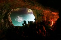 View from inside a grotto. Photo by Nati Shohat/Flash90