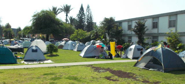 No, it's not a social protest; it's Jacob's Ladder campers. Photo by Viva Sarah Press