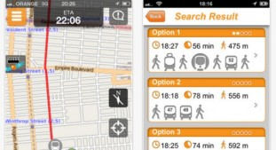 The Moovit app puts all the info you need right on your smartphone screen.