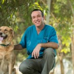 Dr. Yoel and one of his cancer-sniffing friends. Photo by Dani Machlis/BGU