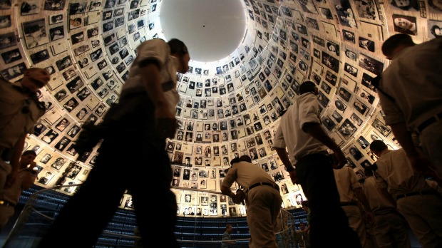 Hall of Names at Yad Vashem. Photo by Yonatan Sindel/Flash 90