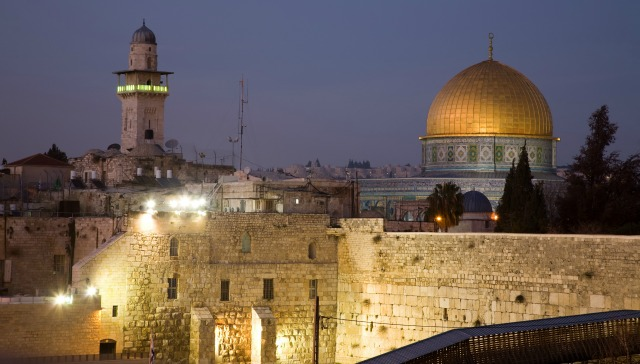 The Dome of the Rock seen from Jerusalem's rooftops. Photo via Shutterstock.com