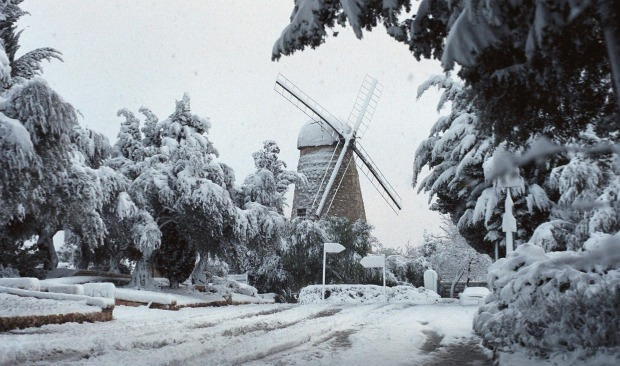 The newly restored windmill. Photo by Nati Shohat/Flash90